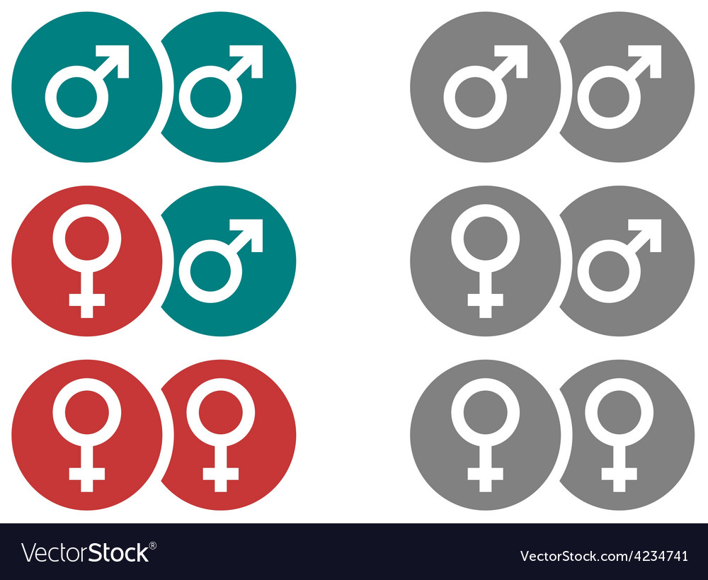 Gender symbols in circles