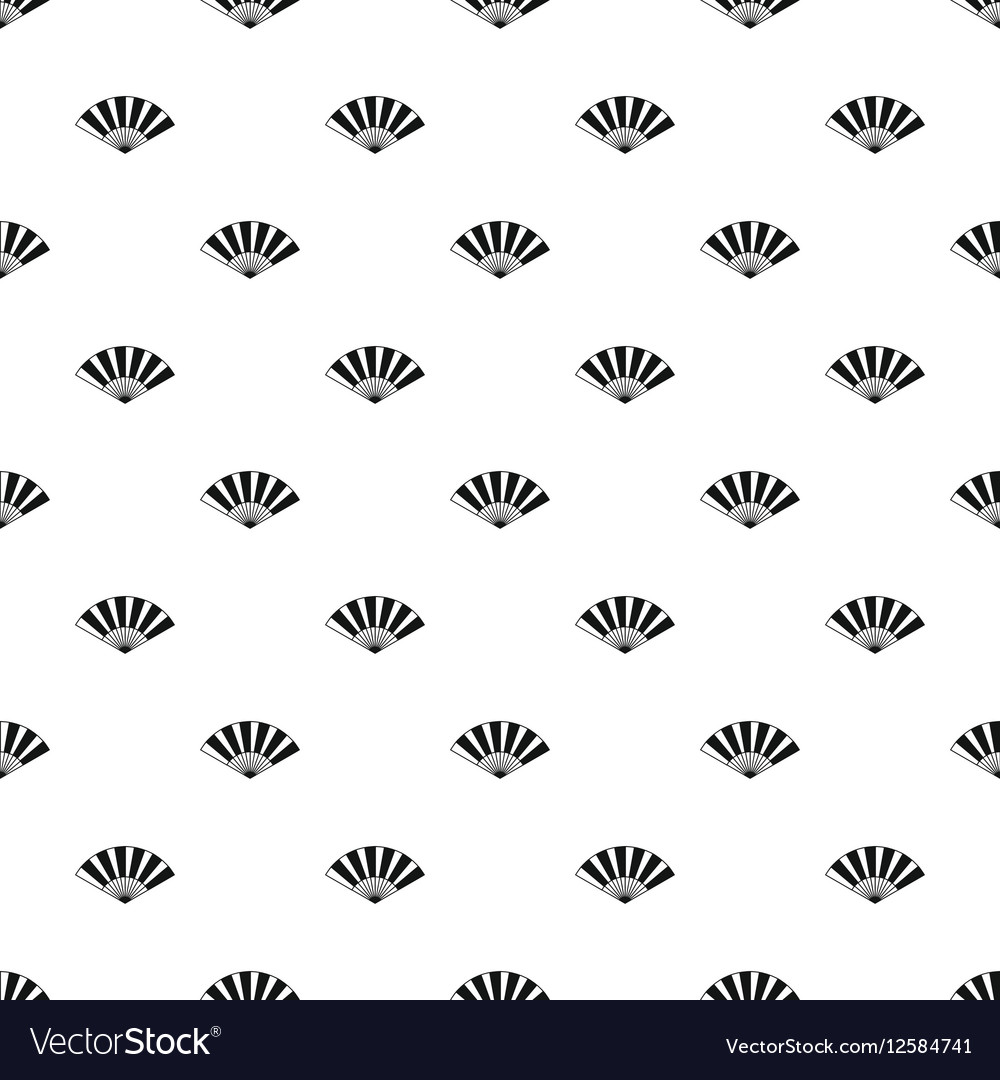 japanese fan pattern simple style royalty free vector image