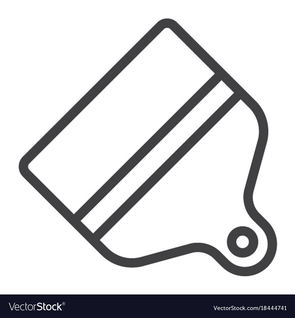 Paint brush line icon web and mobile themes sign vector image