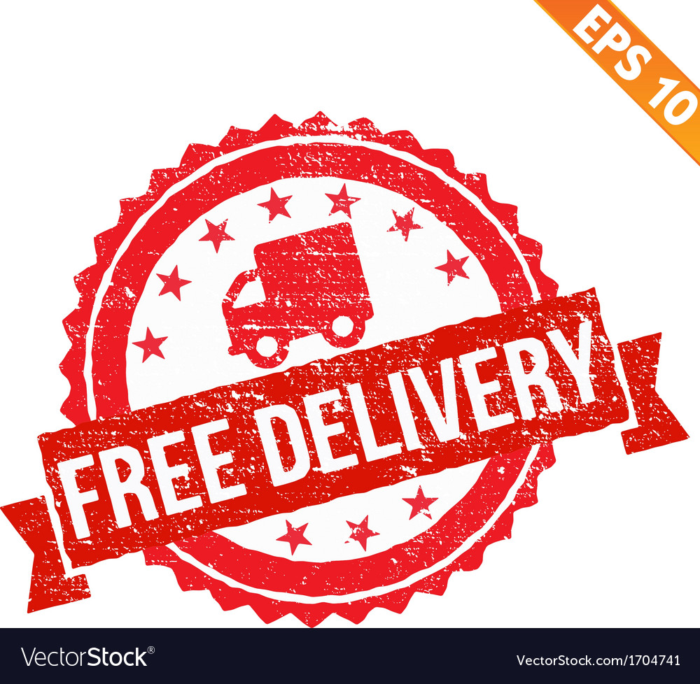Rubber stamp free delivery - - EPS10