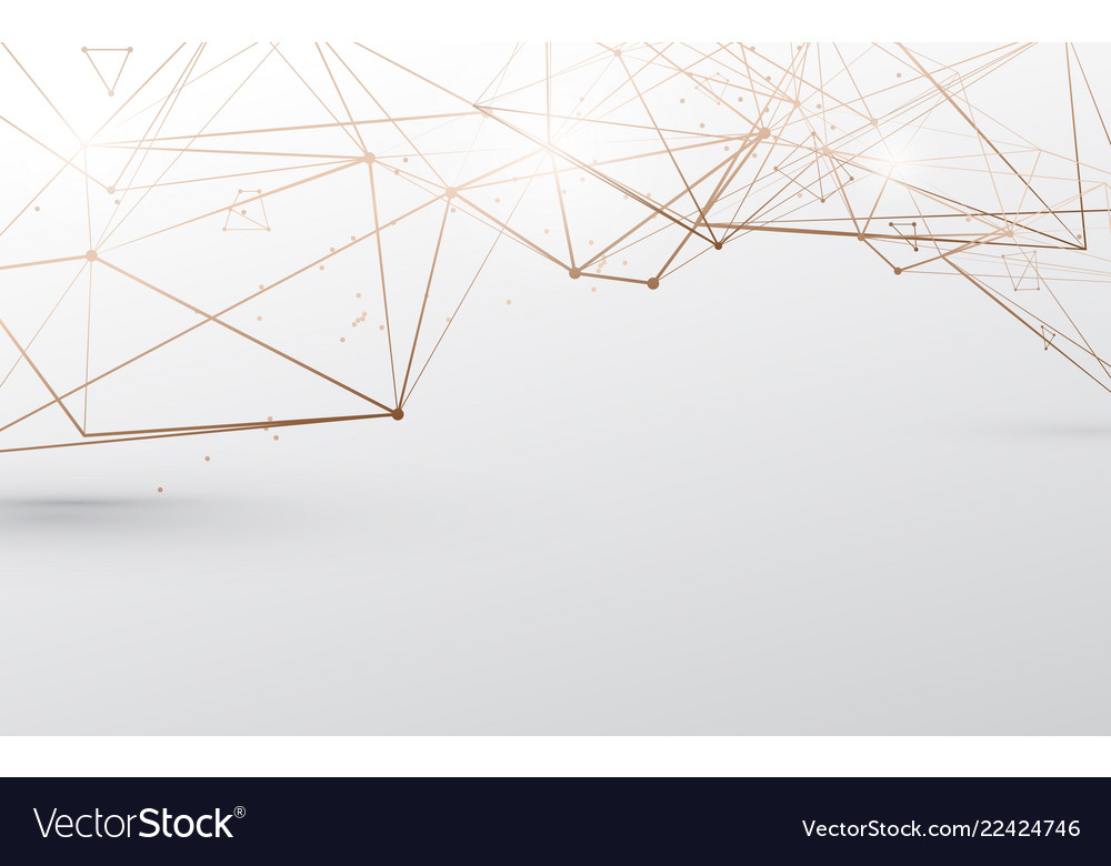 Abstract luxury gold lines on white background