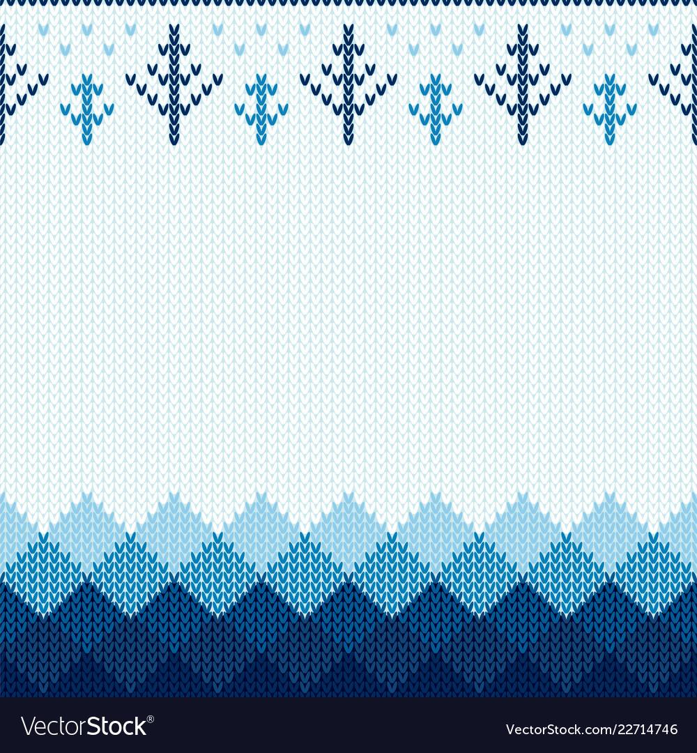 Christmas knitted pattern winter geometric