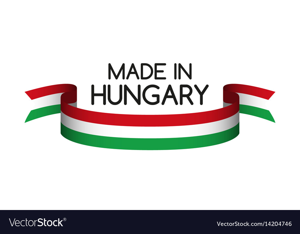 Colored ribbon with the hungarian tricolor