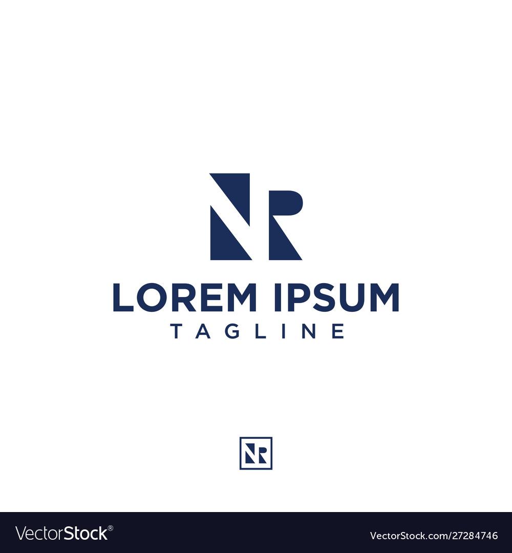Initials Nr Negative Space Logo Design Inspiration