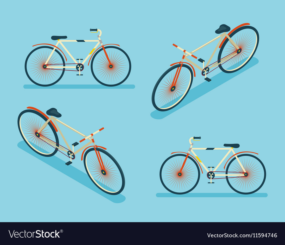 Blank white sport bicycle mock up, stand isolated, front view.