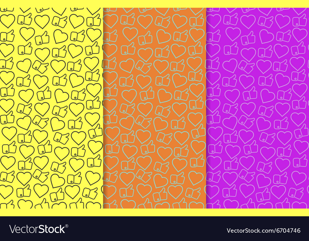 Likes and hearts pattern