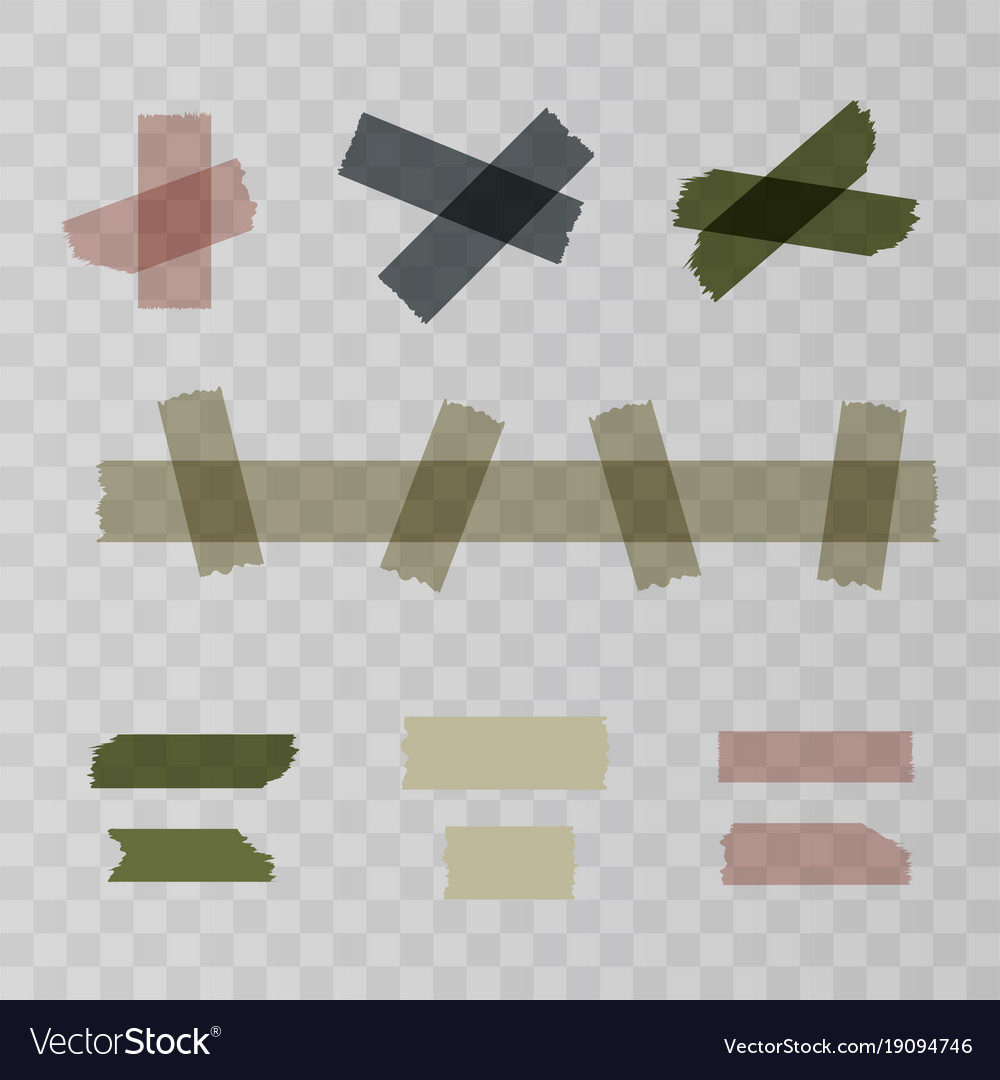 Scotch adhesive tape pieces isolated on