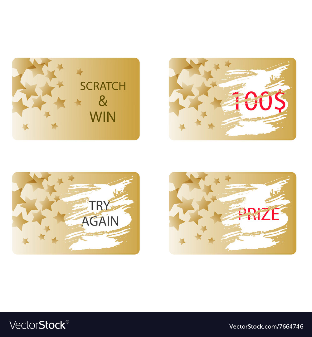 Scratch and win a prize card