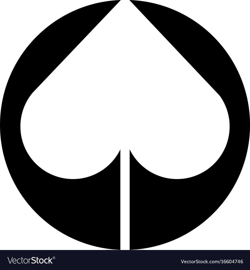 Spade Poker Symbol Icon Royalty Free Vector Image