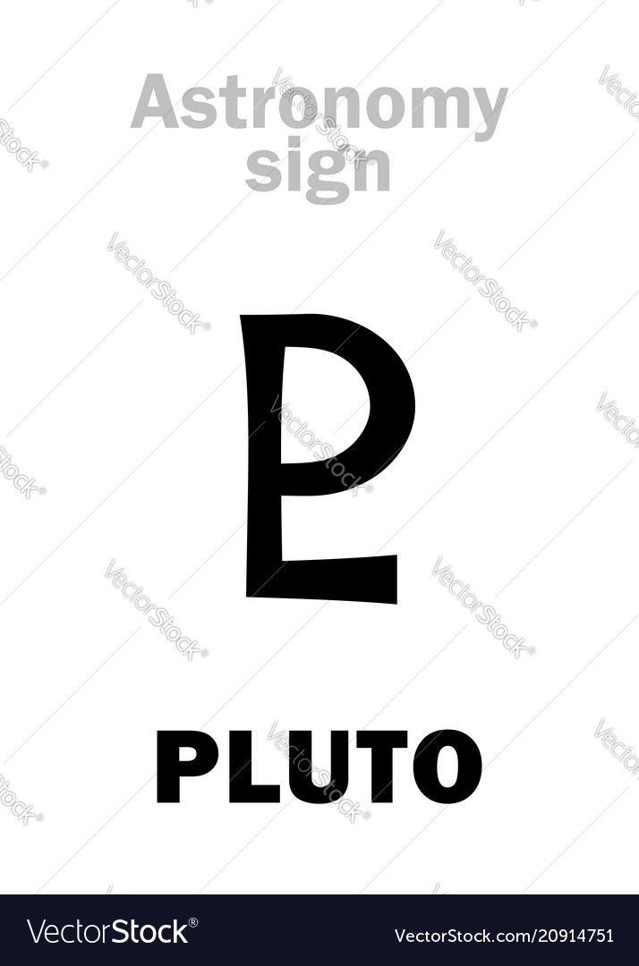 Astrology Astronomical Sign Of Pluto Royalty Free Vector