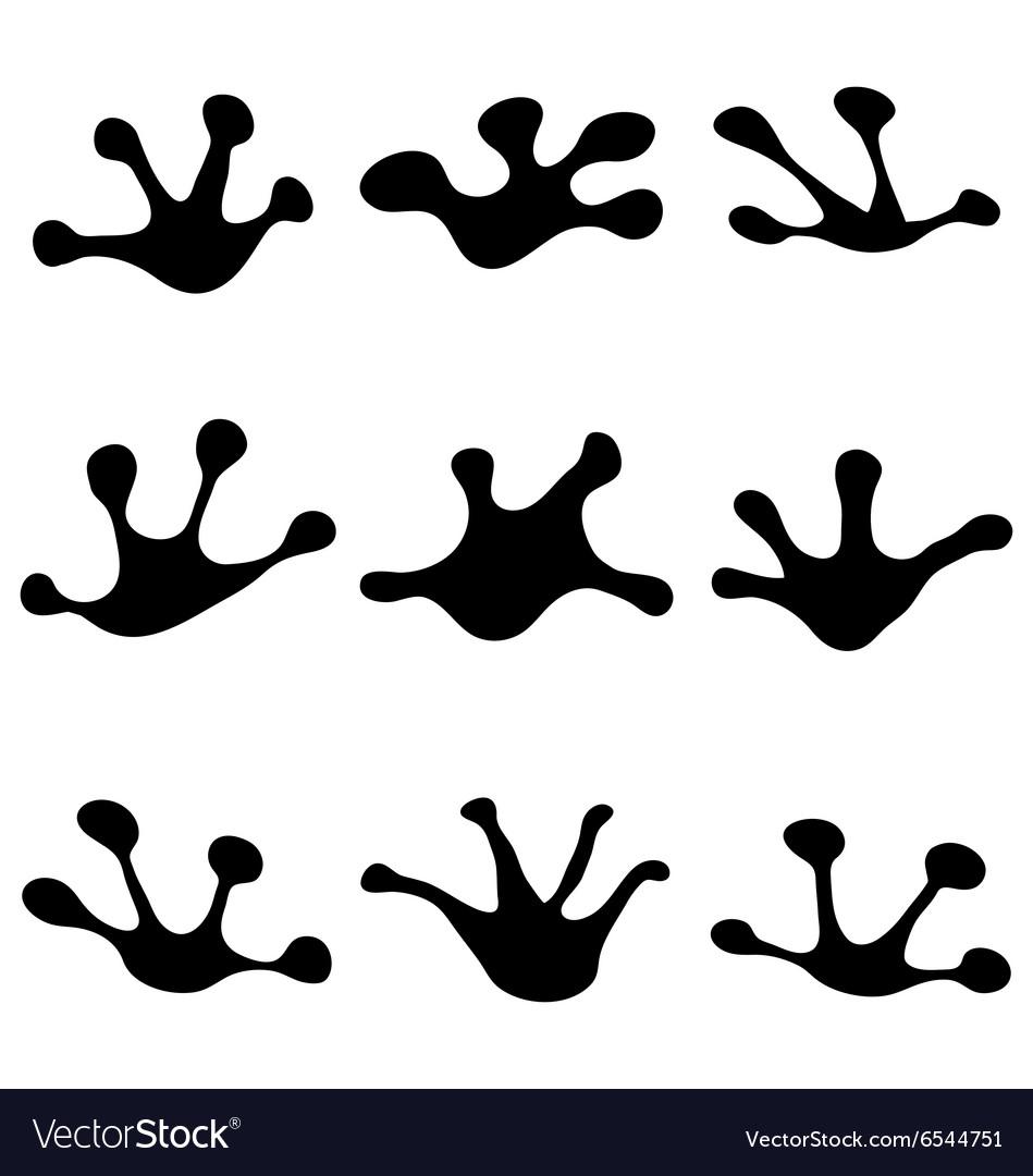 footprints of frogs royalty free vector image vectorstock rh vectorstock com Turtle Footprints Turtle Footprints