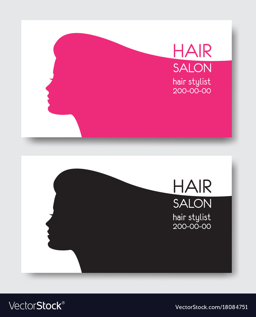 Hair salon business card templates with beautiful vector image accmission Images