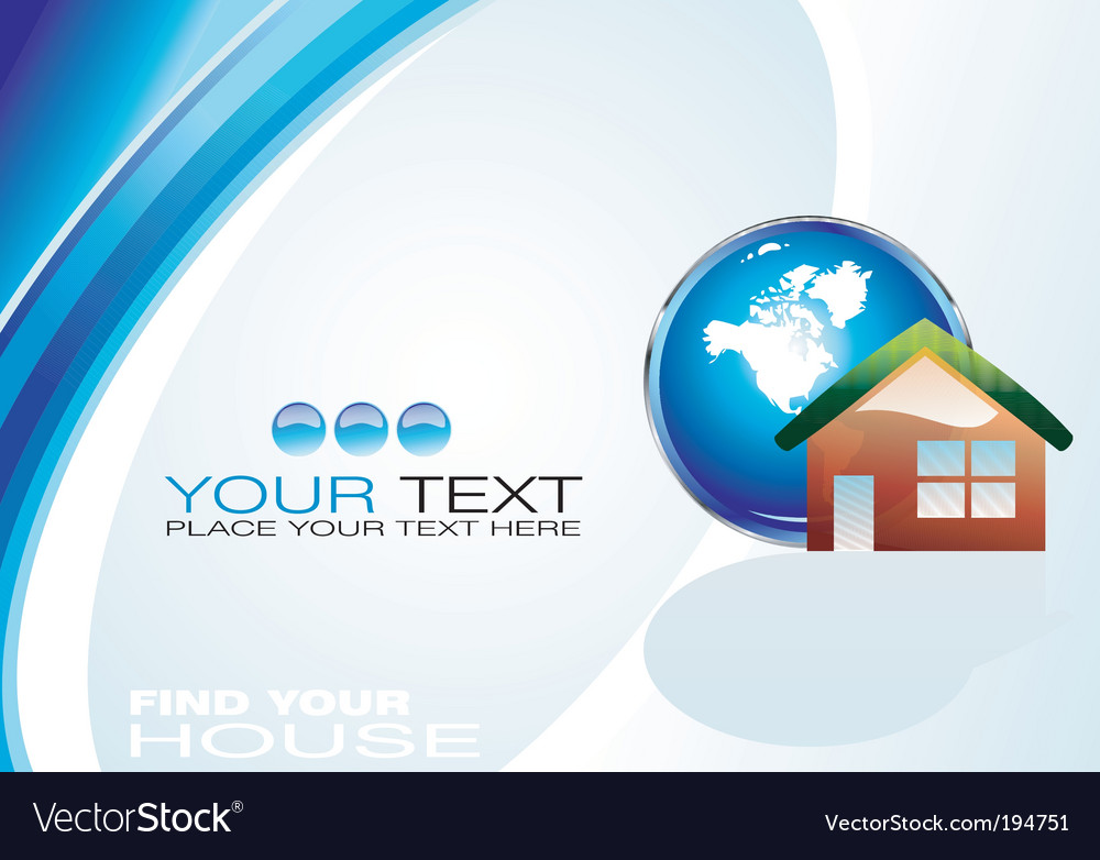Real estate agency business card Royalty Free Vector Image