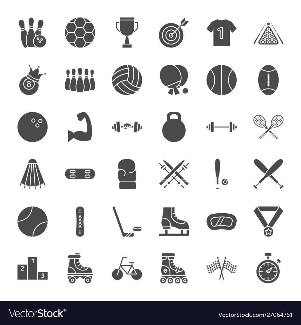 Sport solid web icons