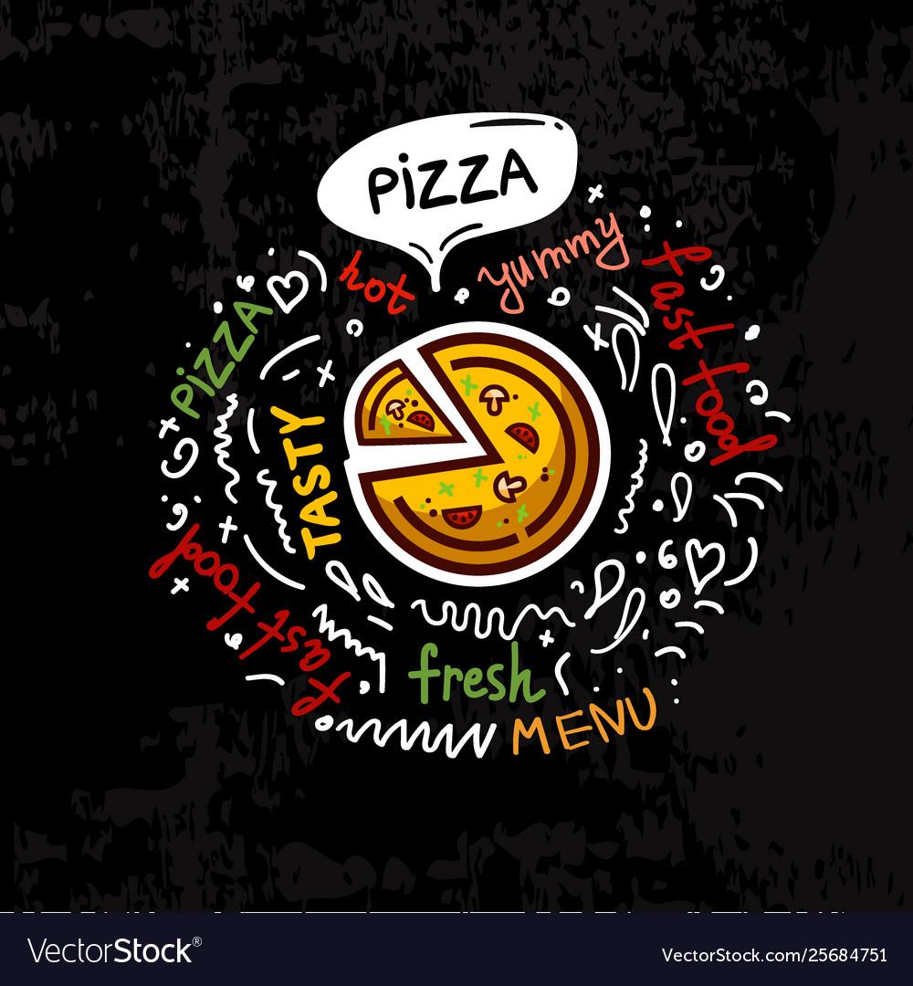 Tasty fast food pizza menu