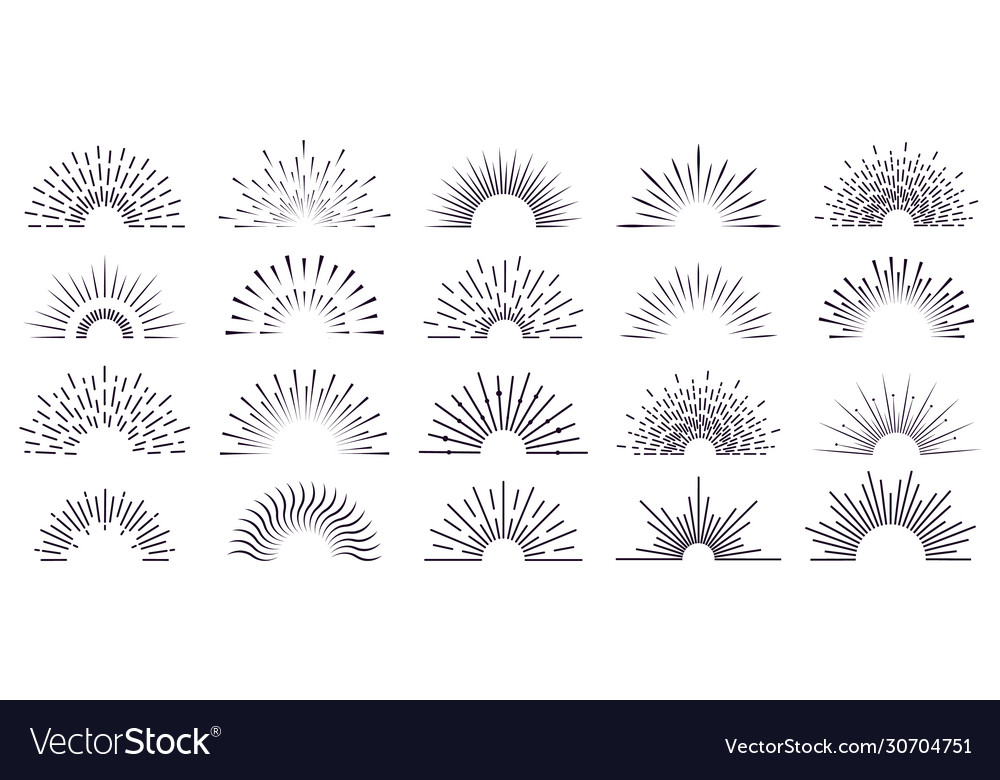 Vintage sunburst retro radiant sunburst vector