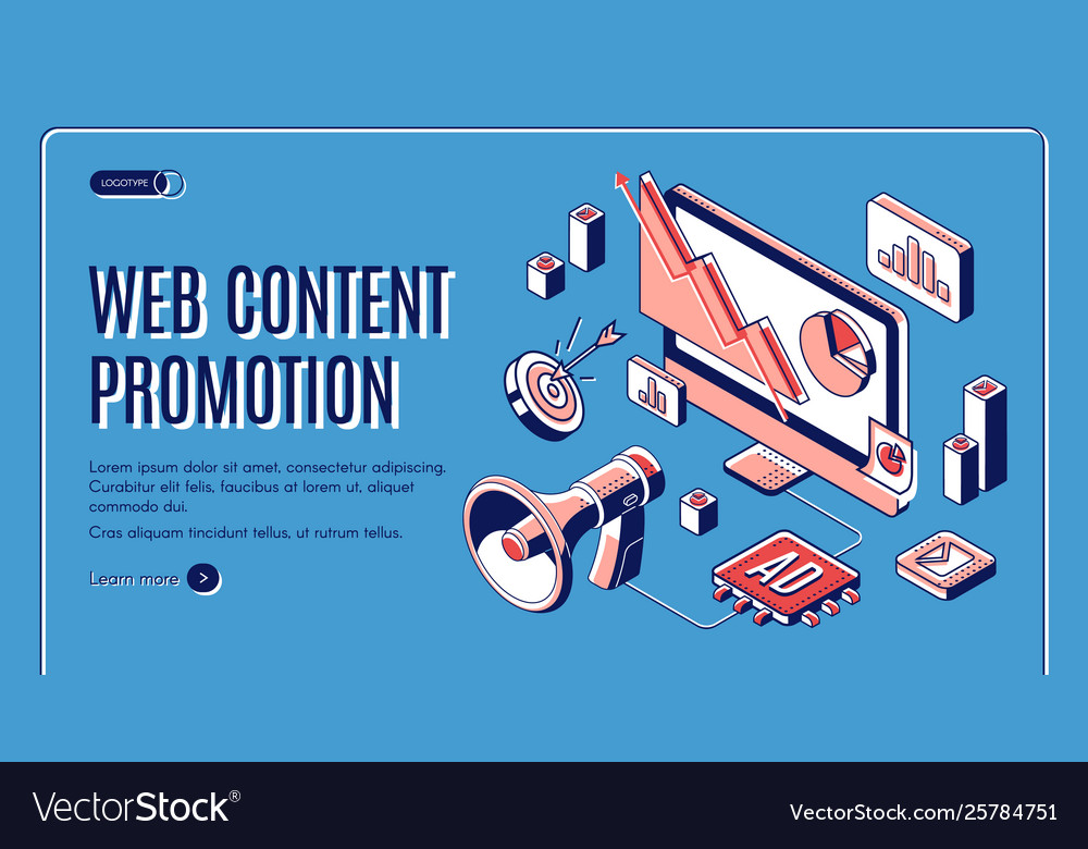 Web content social media promotion web banner