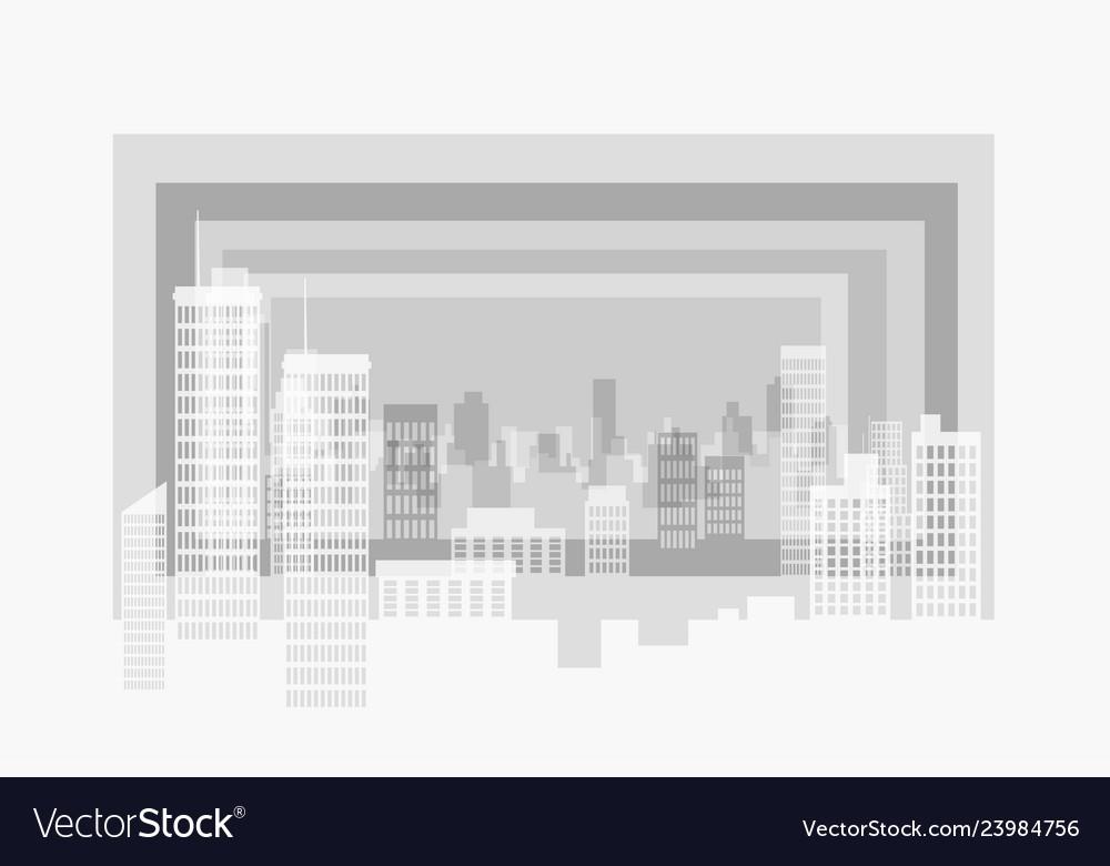 City modern contour landscape several plans form