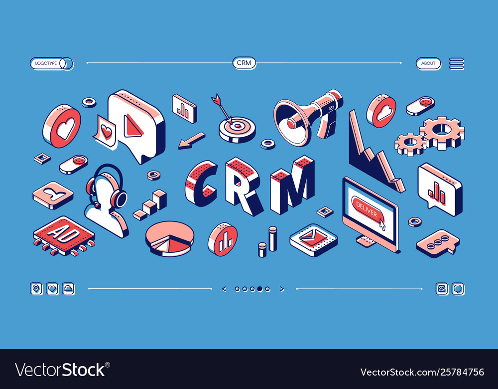 Crm customer relationship management web banner