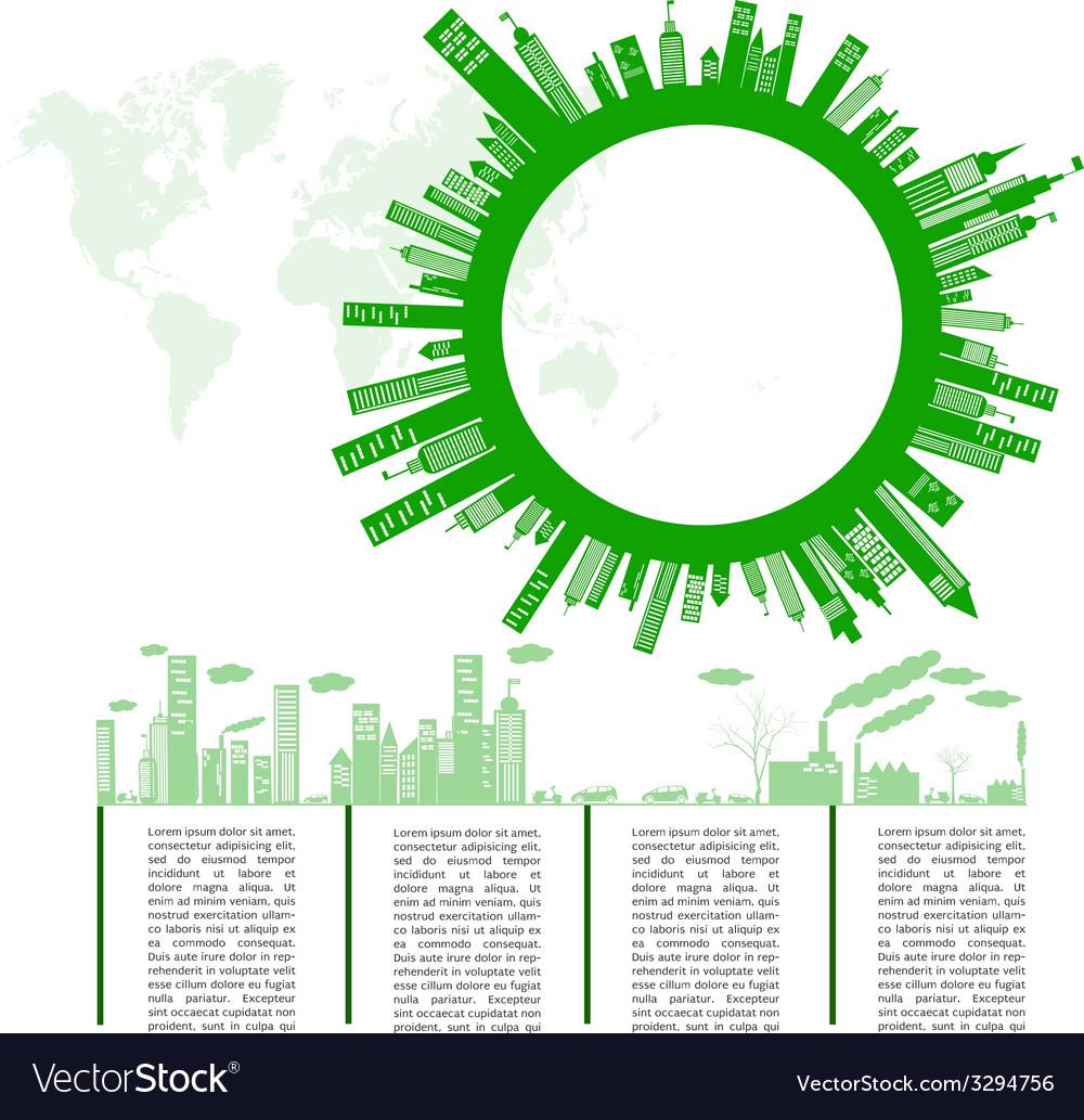Go green concept Save world