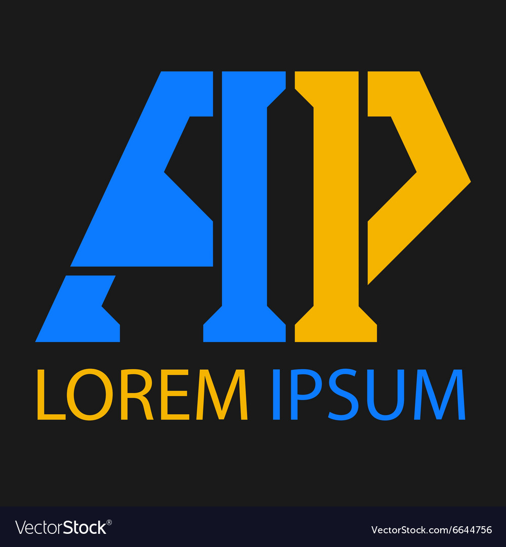Logo templates of letter A and letter P