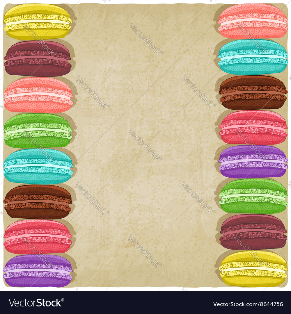 Macaroon old background vector image