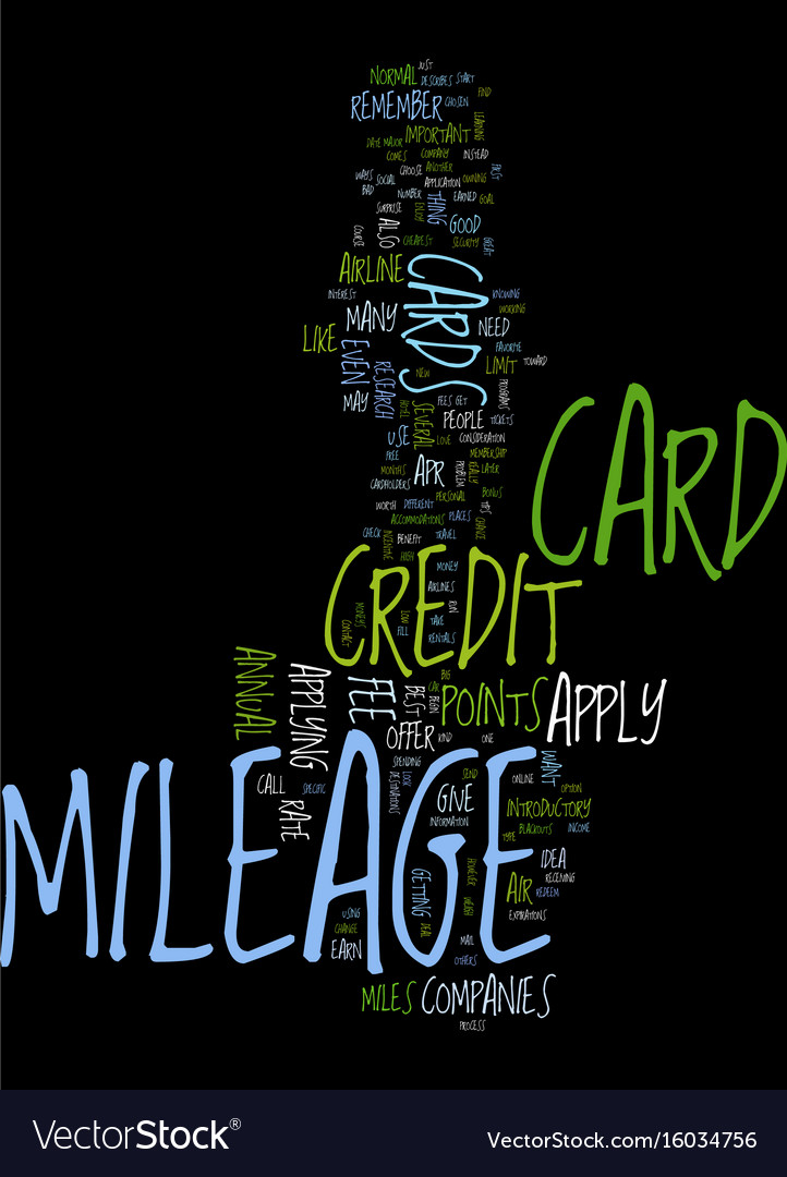 Mileage credit card tips for how to apply text