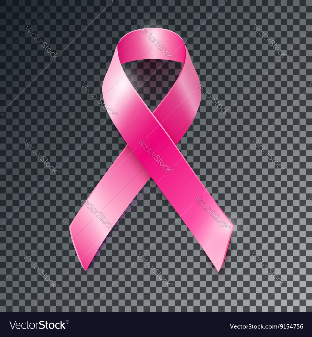 Pink ribbon breast cancer awareness symboll