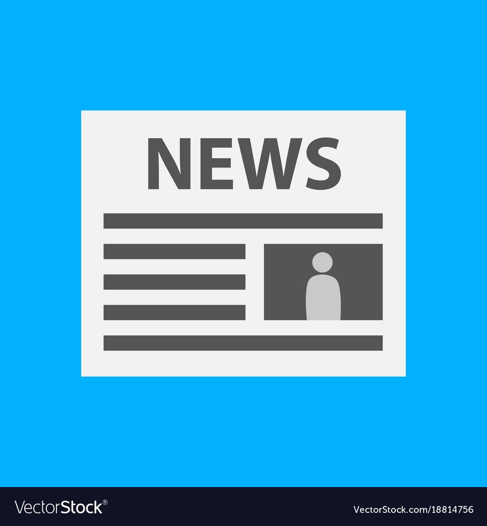 simple newspaper symbol royalty free vector image
