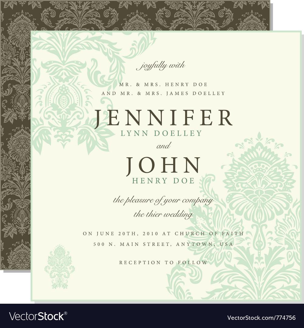 Wedding invites royalty free vector image vectorstock wedding invites vector image stopboris Choice Image