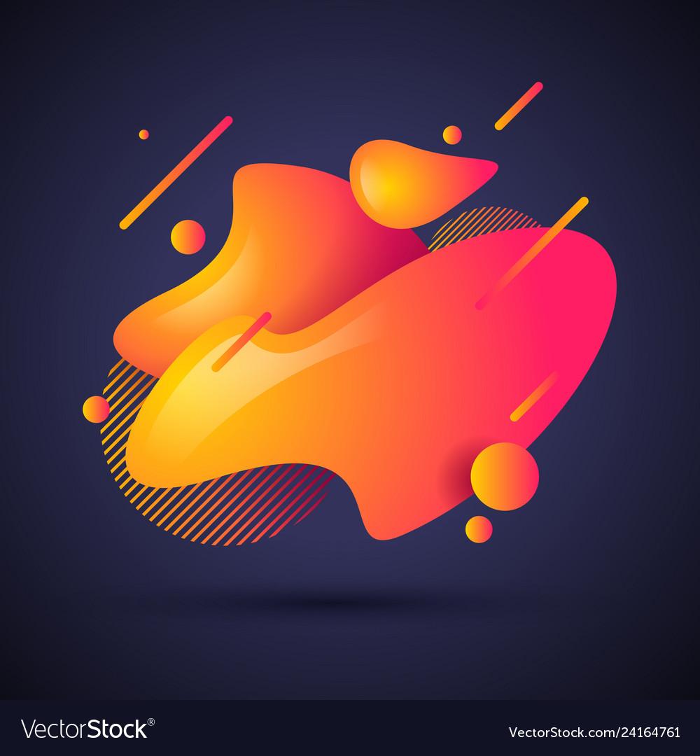 Abstract liquid shape fluid gradient waves