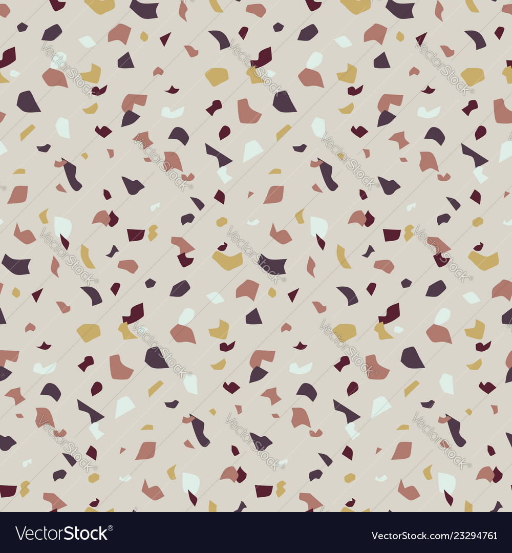 Abstract seamless pattern in terrazzo style