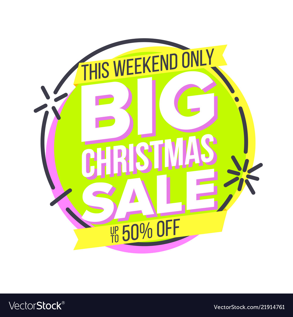 Christmas big sale sticker cartoon sale