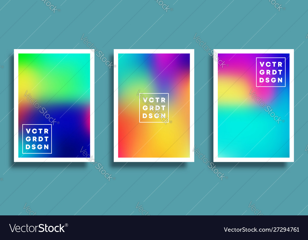 Colorful gradient backgrounds set for flyer
