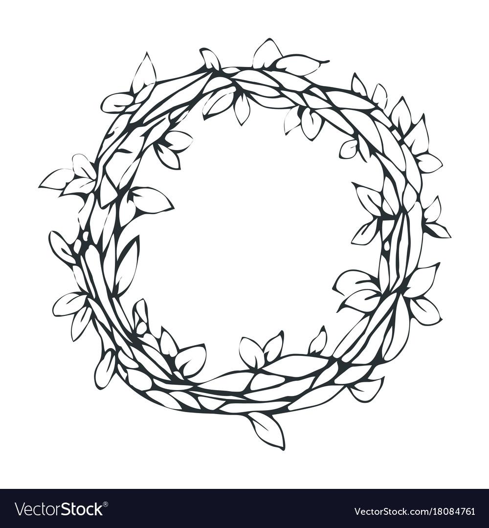 Decorative laurel wreath isolated on white