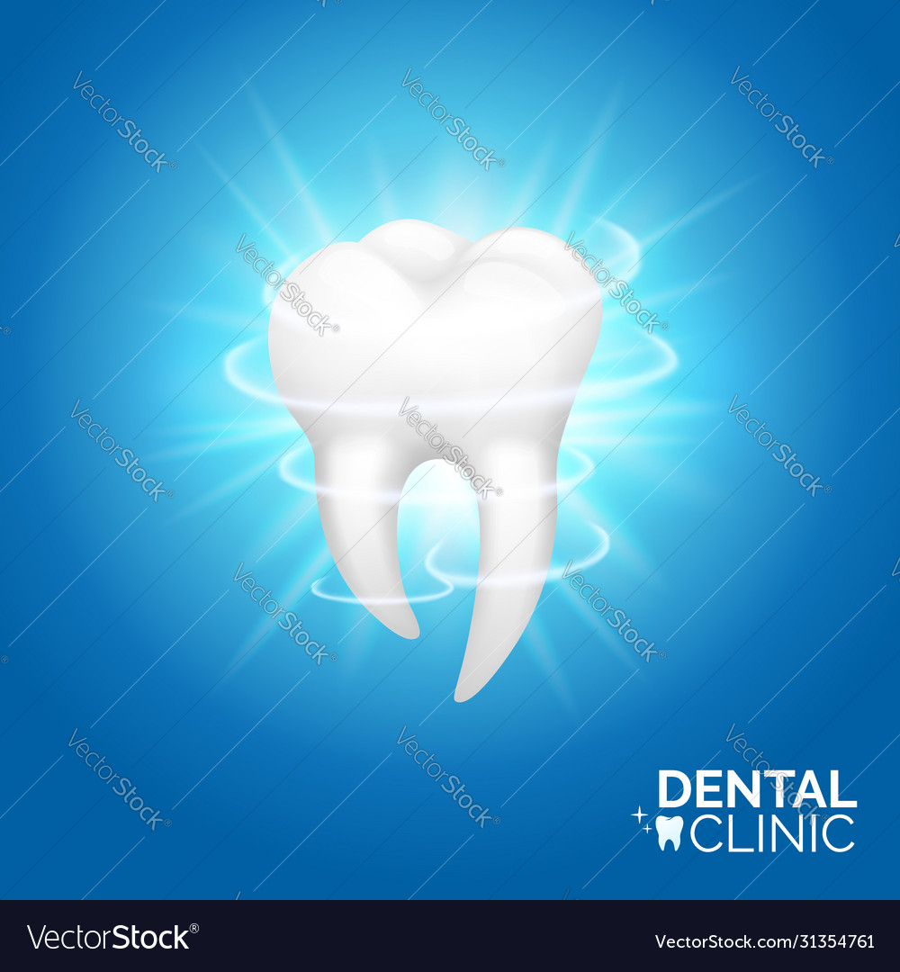 Dental care and teeth whitening banner design