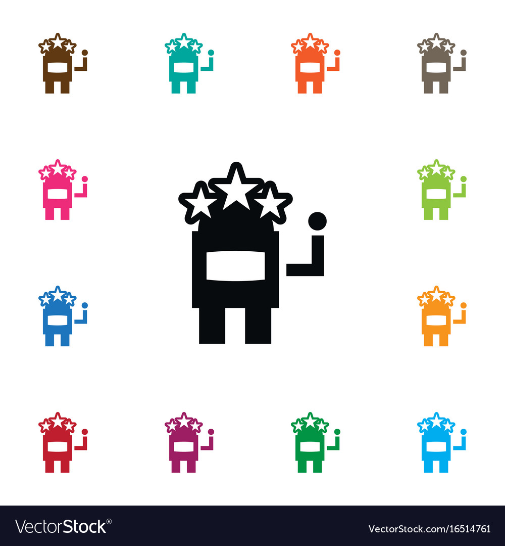 Isolated jackpot icon slot machine element vector image