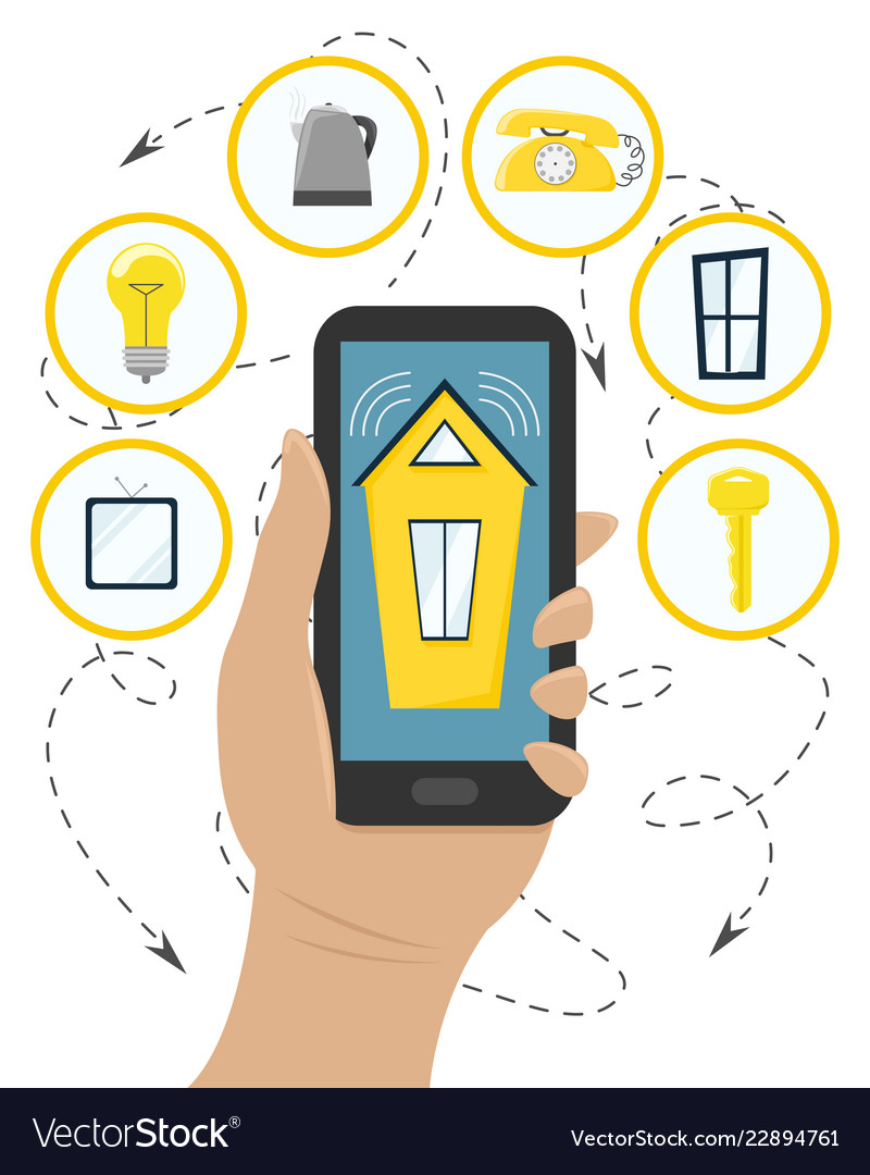 Manage smart home systems with your smartphone
