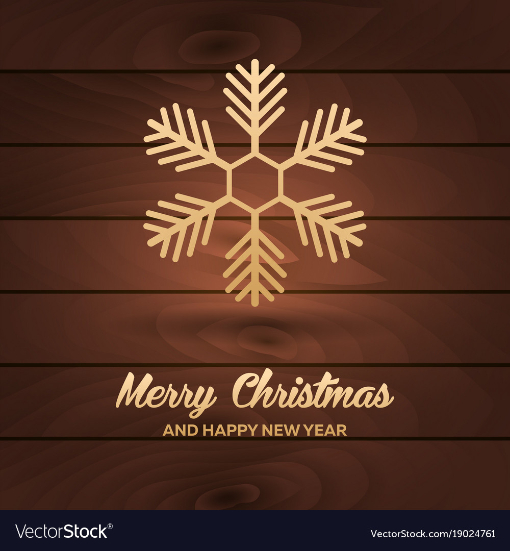 Merry christmas and happy new year wood background