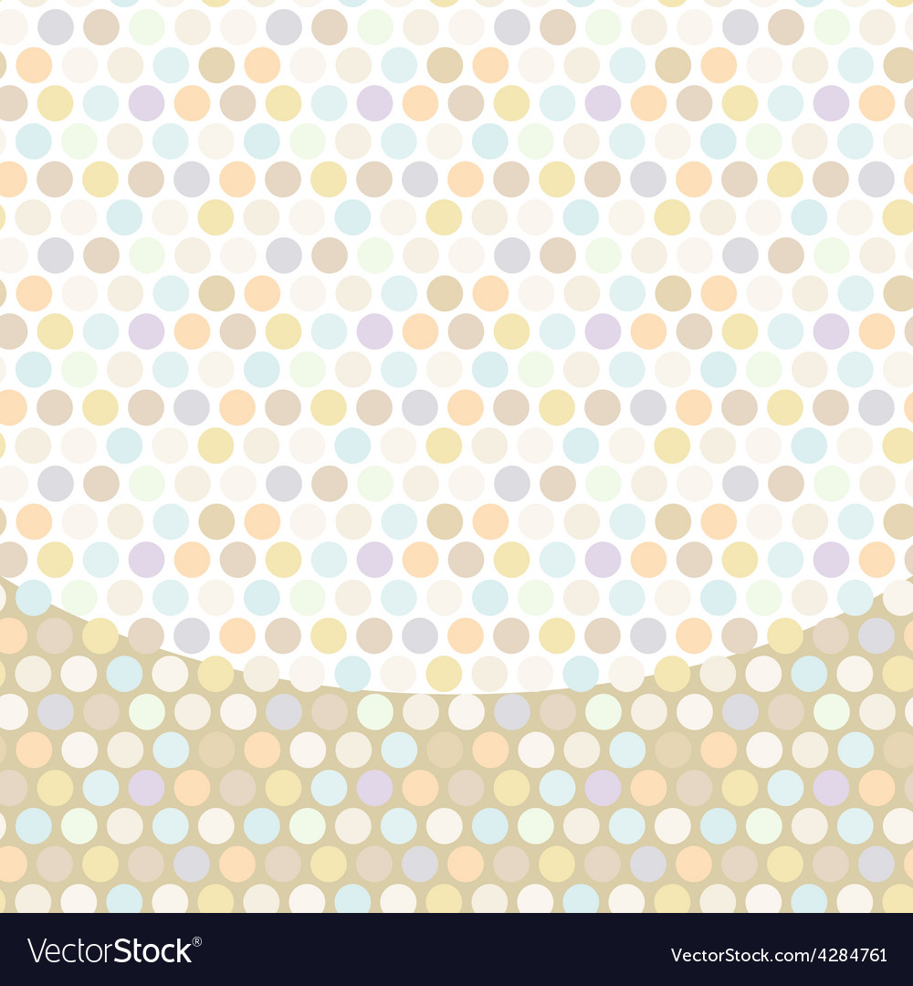 Polka dot background pattern pastel dot on white vector image