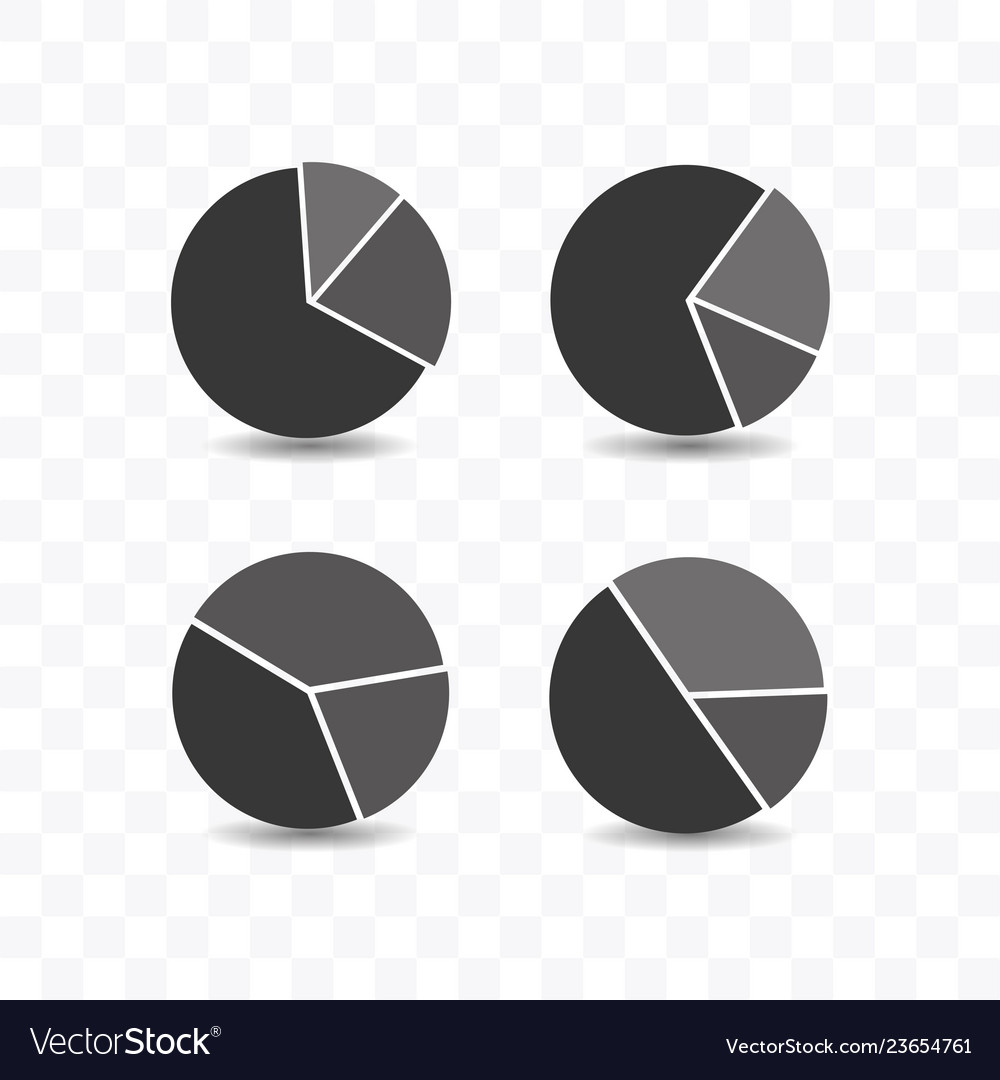 Set of pie chart icon simple flat style