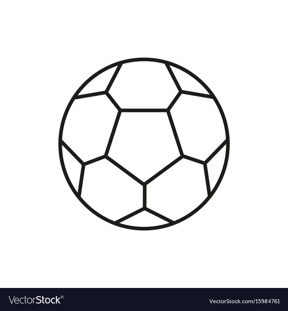 Soccer ball icon on white background