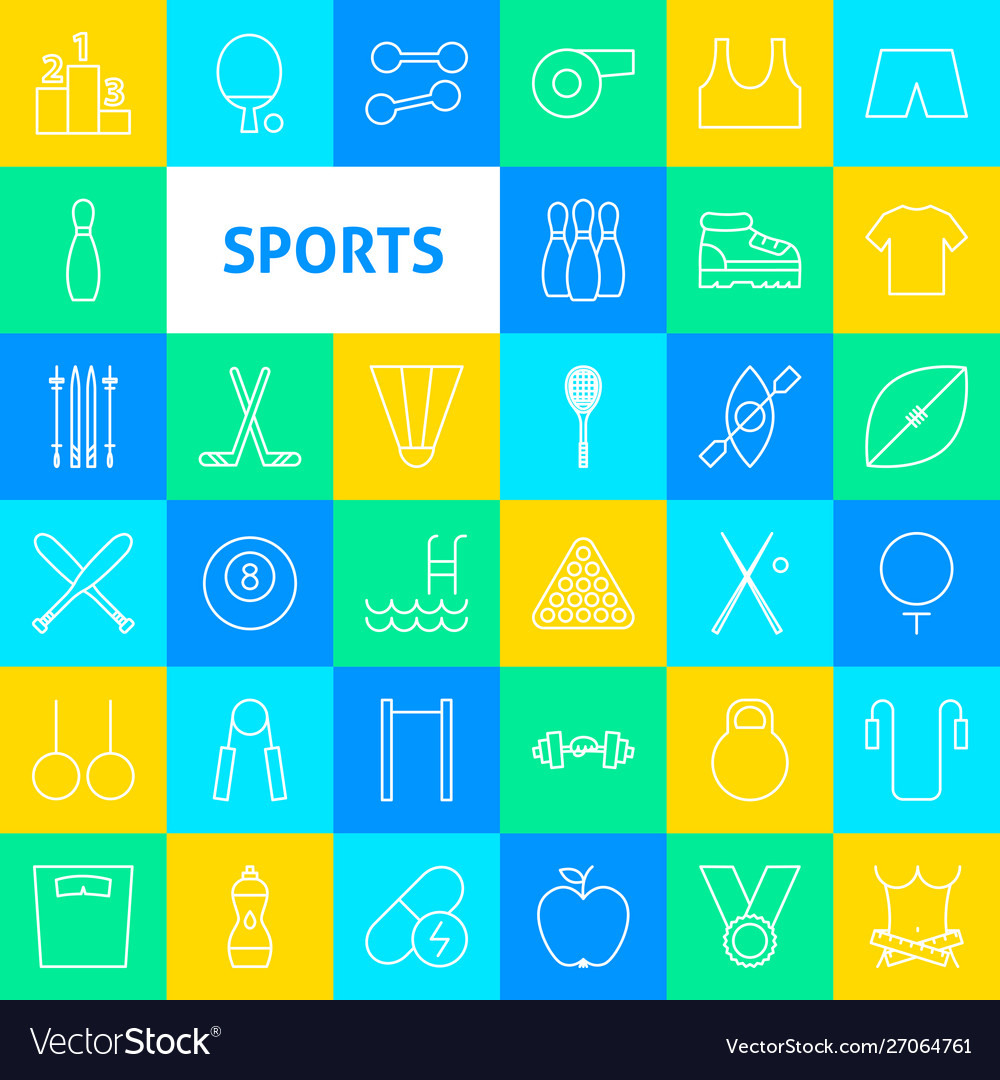 Sports line icons