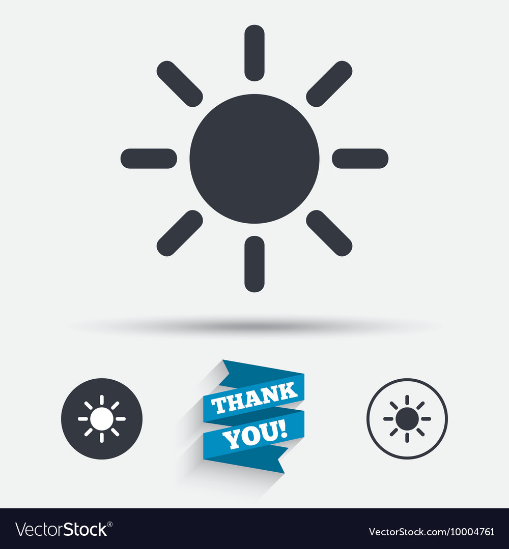 Sun sign icon Solarium symbol Heat button