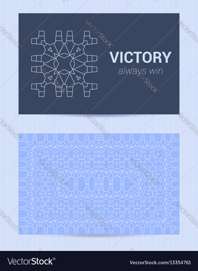 Two sided business card ornamental design vector image colourmoves