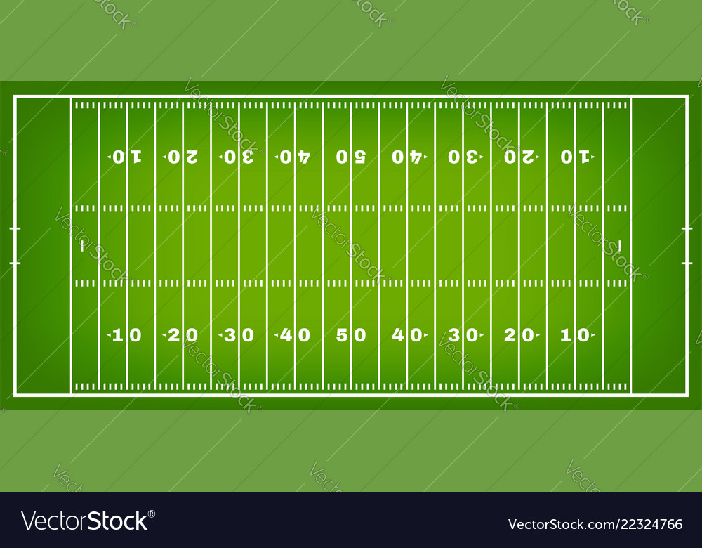 American football field with marking football
