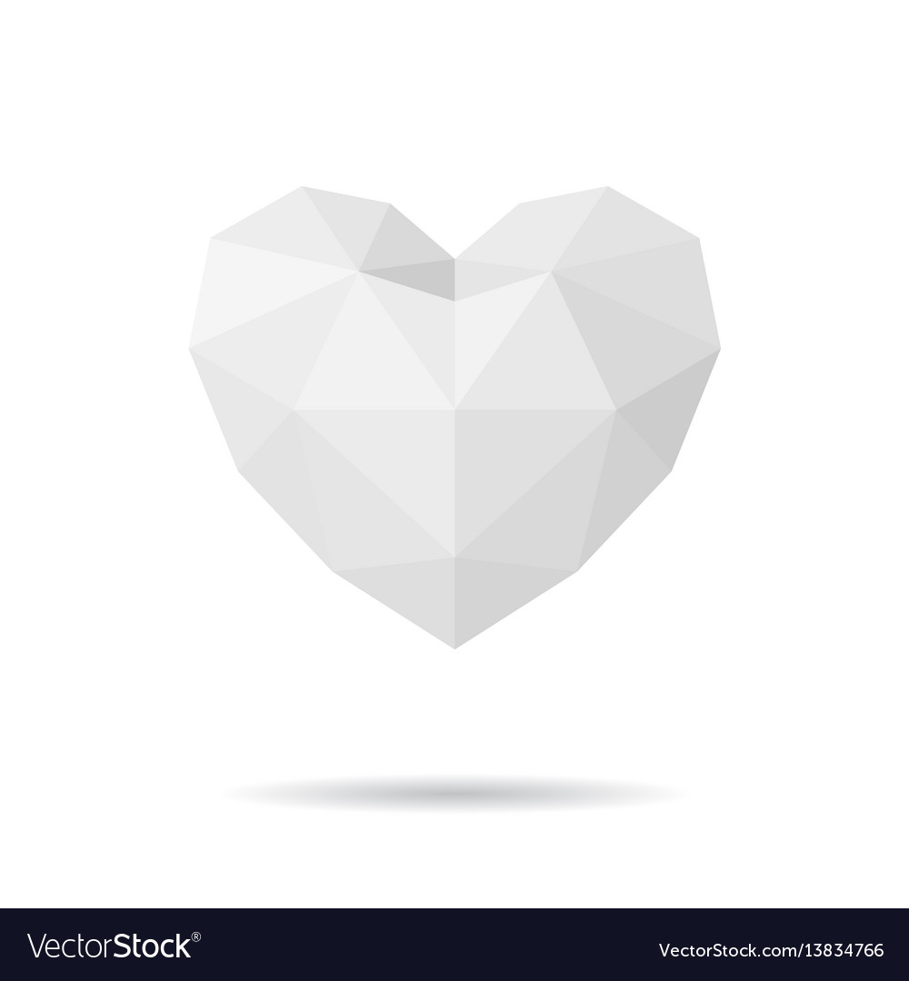 Paper polygon heart