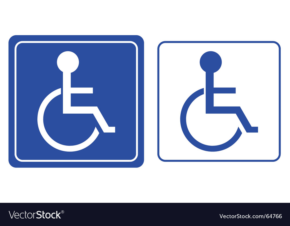 Wheelchair Symbol Royalty Free Vector Image Vectorstock
