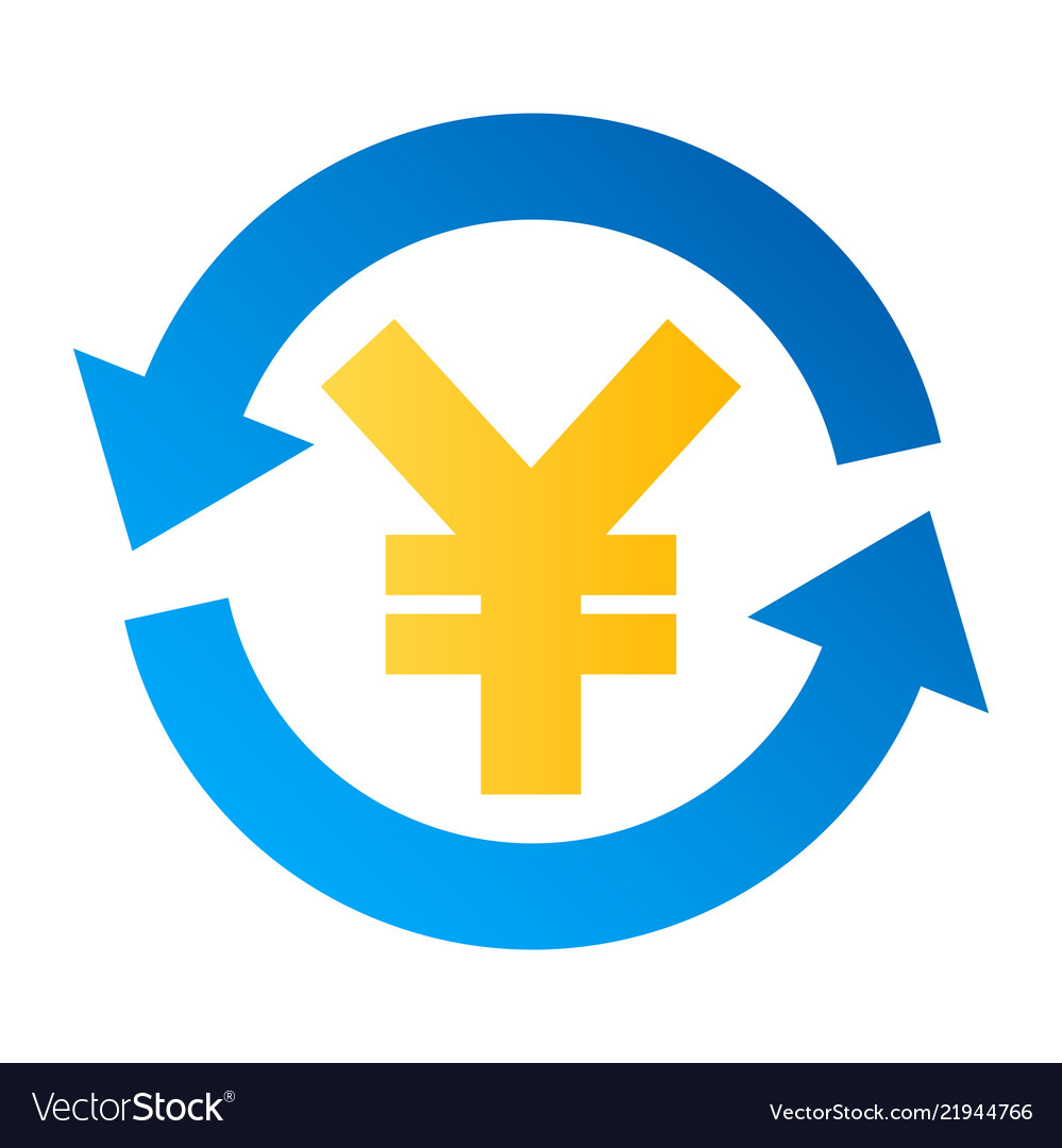Yen currency exchange icon