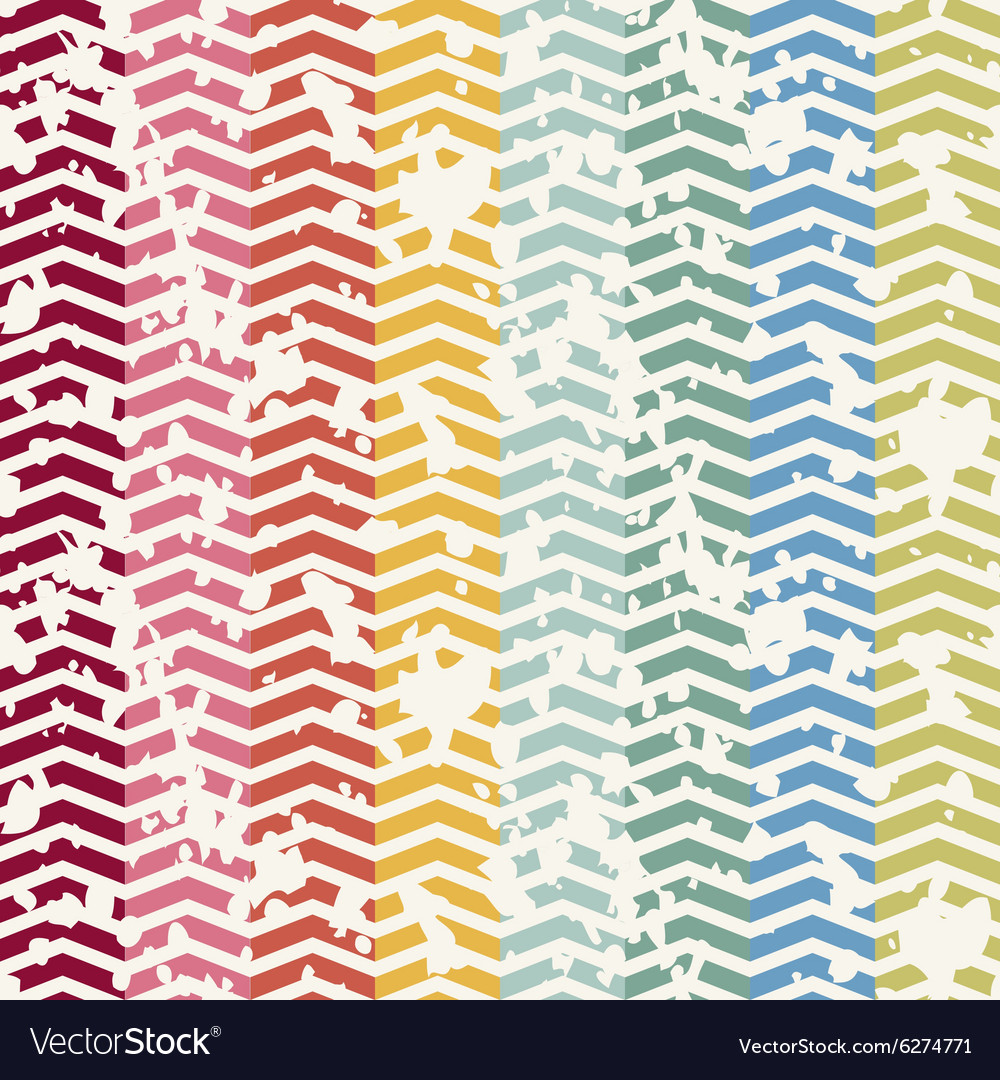 Abstract Retro Geometric seamless pattern with